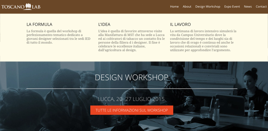 Design workshop 20 - 27 luglio 2015