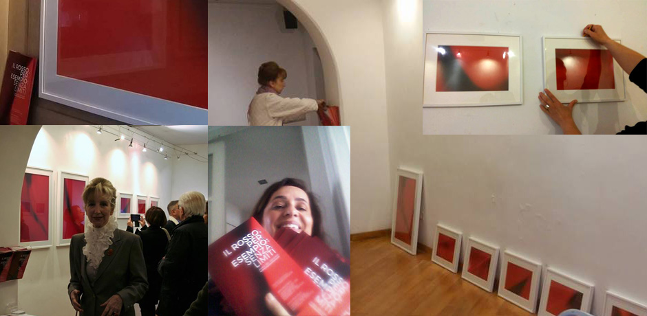 Il rosso per esempio, mostra dell'artista