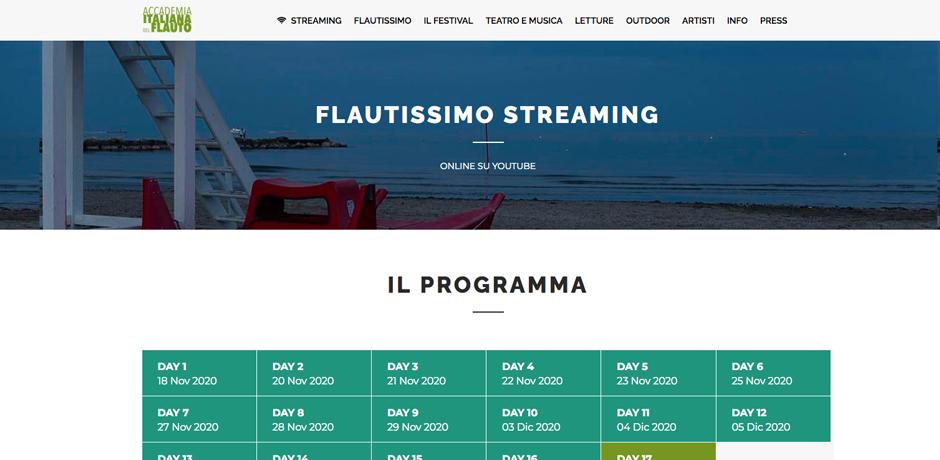 immagin per Accademia Italiana del Flauto: il programma